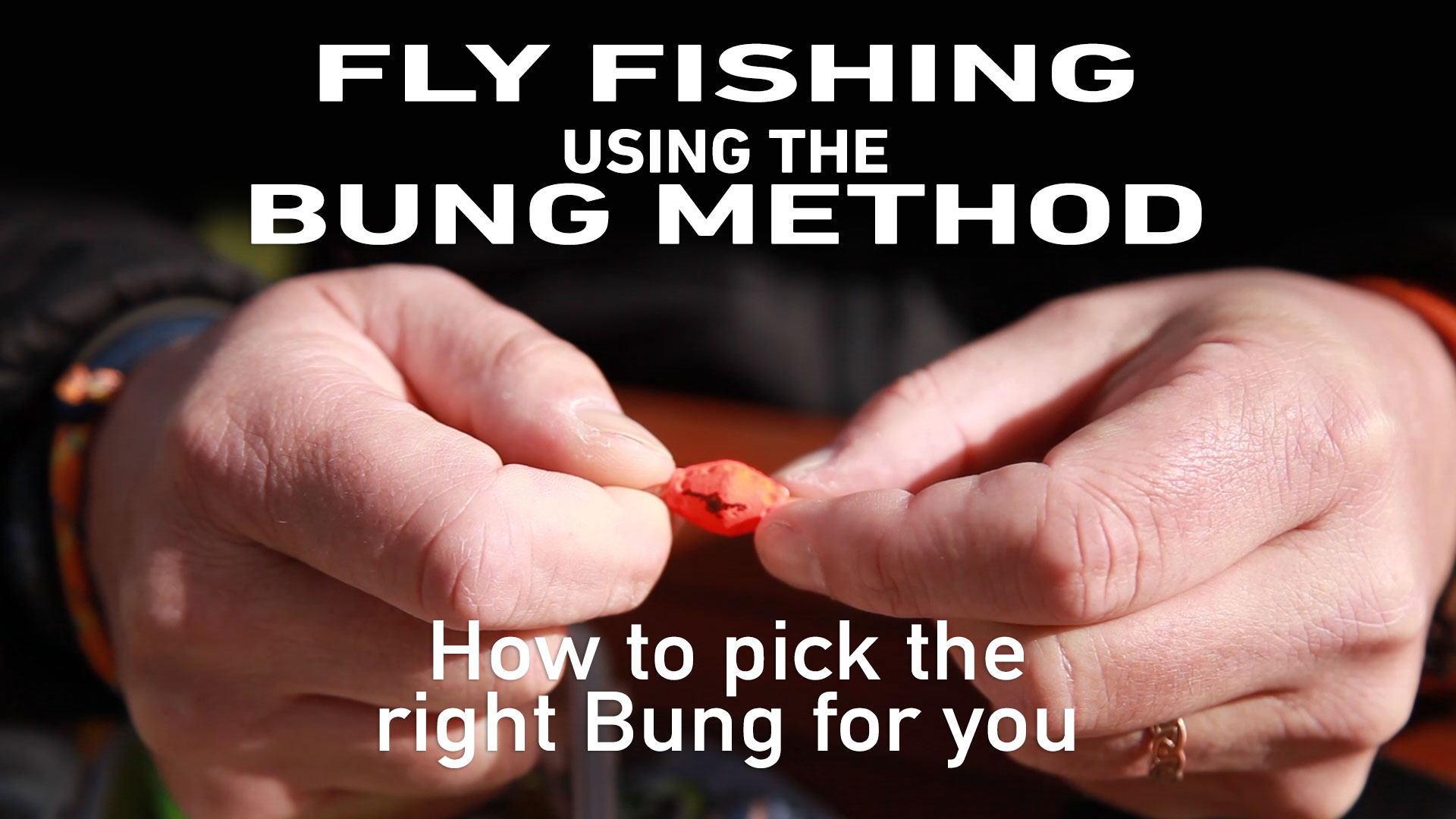 Fly fishing using the bung method